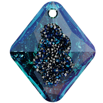 6926 26mm CETT Swarovski growing crystal rhombus pendant - crystal transparent effects