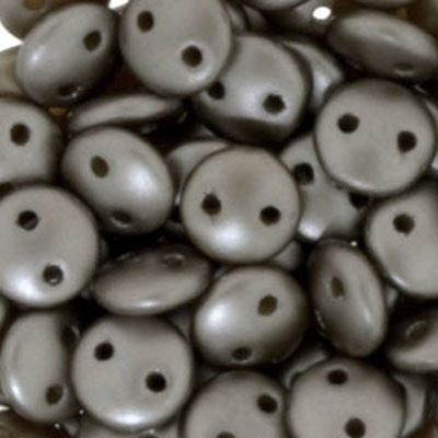 CML-322 CzechMates lentil beads - pastel light coco brown