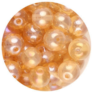 GB240L-15 pressed lustre glass beads - light colorado topaz