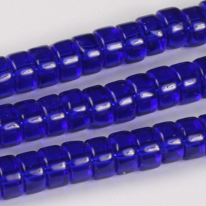 GB245T std cols rondelle pressed transparent glass beads - standard colours