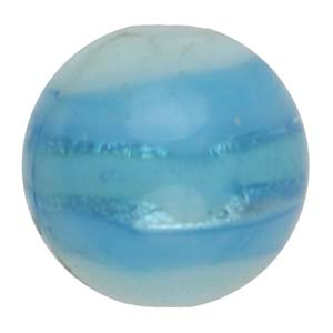 GB270-2 Indian glass lamp bead, silver foiled round - aqua