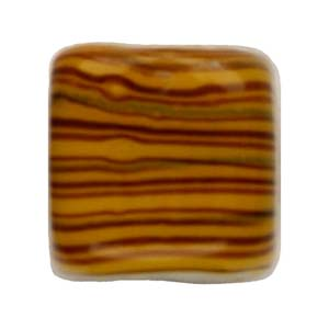 GB284-3 Indian glass lamp bead, stripey square - topaz