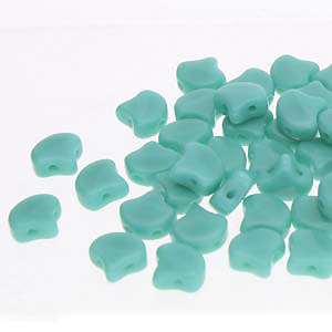 GBGNK-140 Ginko Beads - opaque green turquoise