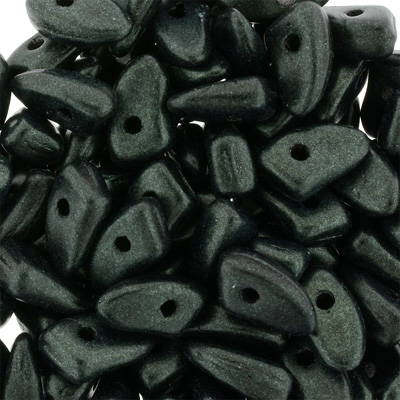 GBPR-286 Prong beads - Metallic Suede Dk Forest