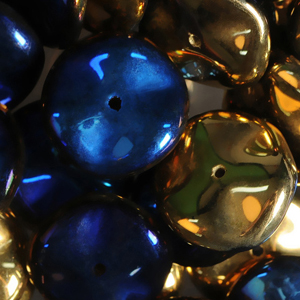 GBRPL-219 Czech ripple beads - crystal California blue