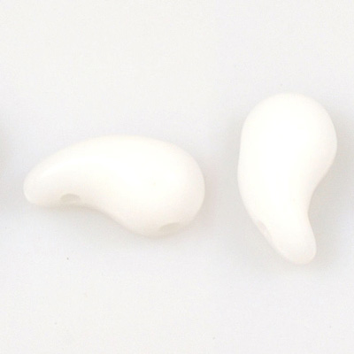 GBZOL-2-R Czech Zoliduo Beads - white alabaster: right version