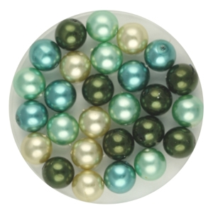 GPR06 MIX round Czech glass pearls - mixed colours