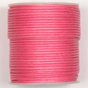 WCC-2 PK waxed cotton cord - pink