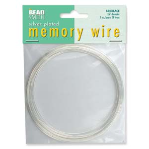 MWNL-2 memory wire necklace - silver