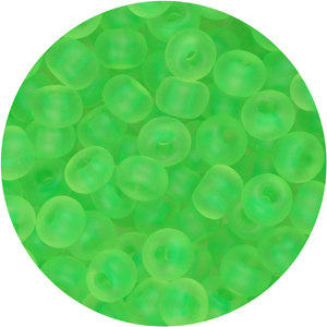 SB6-121 Czech size 6 seed beads, matt transparent - neon green