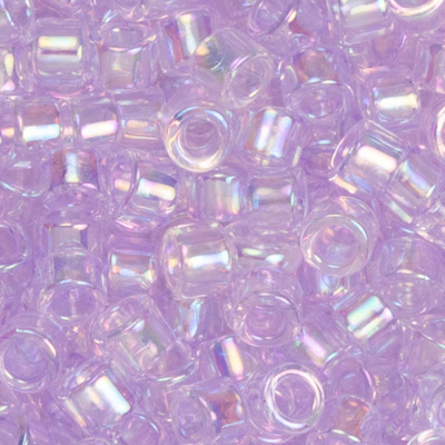 SB11JTT-477 Toho Treasures beads - transparent dyed lavender mist rainbow