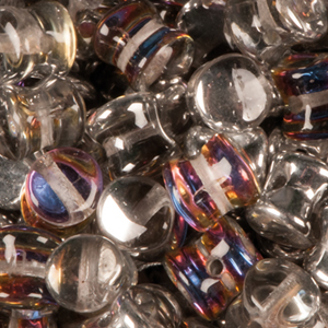 GBPLT-208 Czech pellet pressed beads - crystal volcano