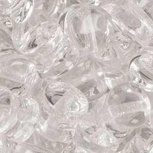 GBPLT-5 Czech pellet pressed beads - crystal