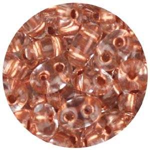SBT-105 Czech twin seed beads - copper lined